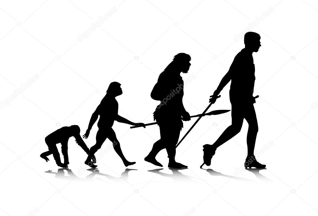 An abstract vector illustration of human evolution. — Stock Vector #2951670
