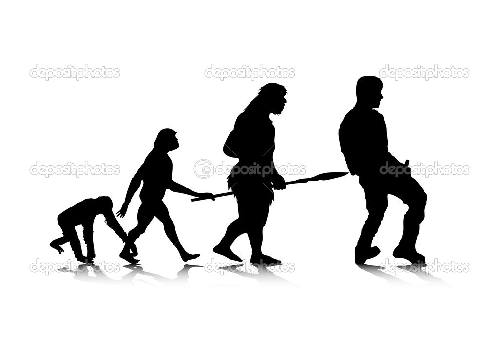 An abstract vector illustration of human evolution. — Stock Vector #2951677