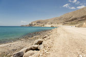 Sandy route - Van Lake — Stock Photo