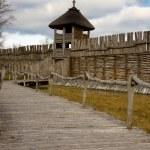 Biskupin - old Polish village — Stock Photo