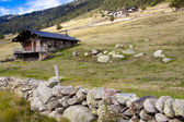 Stony cottage - Pyrenees — Stock Photo