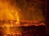 Orange fire — Stock Photo