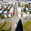 Aerial view from Hallgrimskirkja church - Iceland. — Stok fotoğraf