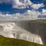 Gullfoss big waterfall - Iceland. — Stock Photo