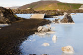 Clean water, spa and and Geothermal Power plant. Blue Lagoon - I — Stock Photo