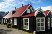 Old nordic house in Reykjavik — Stock Photo