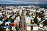 Aerial view from Hallgrimskirkja church - Iceland — Stock Photo