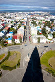 Aerial view from Hallgrimskirkja church - Iceland. — Stock Photo