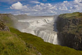 Gullfoss big waterfall - Iceland — Stock Photo