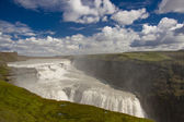 Gullfoss big waterfall - Iceland. — Stock Photo