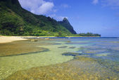 Tunnels Beach, Kauai — Stock Photo