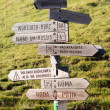 Tourist guidepost — Stock Photo #2946277