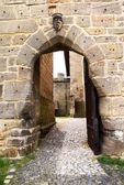 Entrance to gothic castle — Stock Photo