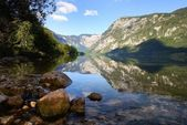 Bohinj lake in Triglav national park — Stock Photo
