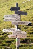 旅游路标 — 图库照片