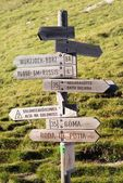 Tourist guidepost — Stock Photo
