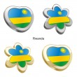 Royalty-Free Stock Vector Image: Rwanda flag in heart and flower shape