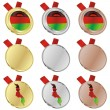 Malawi vector flag in medal shapes — Stock Vector