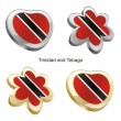 Trinidad and tobago flag in heart — Stock Vector