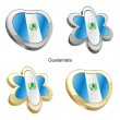 Royalty-Free Stock Vector Image: Guatemala flag in heart and flower shape