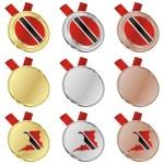Trinidad and tobago vector flag medals — Stock Vector