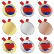 Cambodia vector flag in medal shapes — Imagen vectorial