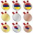 Royalty-Free Stock Vector Image: Armenia vector flag in medal shapes