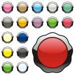 Vector editable round buttons — Stock Vector #3008645