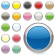 Vector de stock : Vector editable round buttons