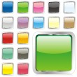 Vector editable square buttons — Stock Vector