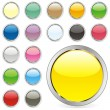 Stock Vector: Vector editable round buttons