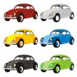 Solated funny colored cars - Vettoriali Stock