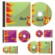 Colored CDs and cases with rock layout — Stock Vector #3008697