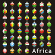 Royalty-Free Stock Vector Image: African flags in christmas bulbs shape