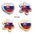Slovakia flag in heart and flower shape — Stock Vector #3009196