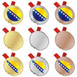 Stock Vector: Bosnia and Herzegovina flag medals