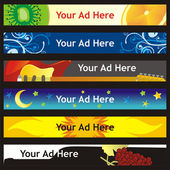 Vector web banner with different layouts — 图库矢量图片