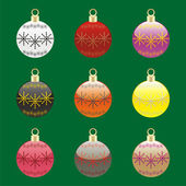 Christmas bulbs with details ready to us — Stock Vector