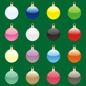 Jul glödlampor med detaljer redo för oss — Stockvektor