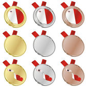 Malta vector flag in medal shapes — Stockvektor