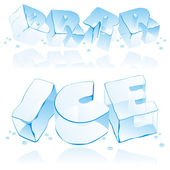 Fully editable vector ice letters — Stock Vector