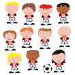 Vector soccer team - Stock Vector
