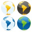 Vector isolated world globes — Vector de stock #3010183