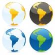 vector geïsoleerde wereld globes — Stockvector