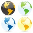 Vector isolated world globes — Stockvektor #3010196
