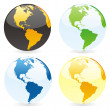 Vector isolated world globes - Imagen vectorial