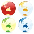Vector isolated world globes — Vector de stock #3010211