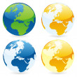 Vector isolated world globes — Stock Vector #3010231