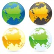 Vector isolated world globes — Stock Vector #3010238