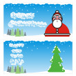 Stock Vector: Vector winter holidays cards